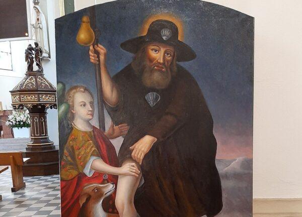 Kopia obrazu św. Rocha