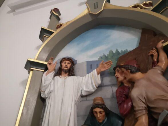 Powrót II stacji Drogi Krzyżowej do kościoła