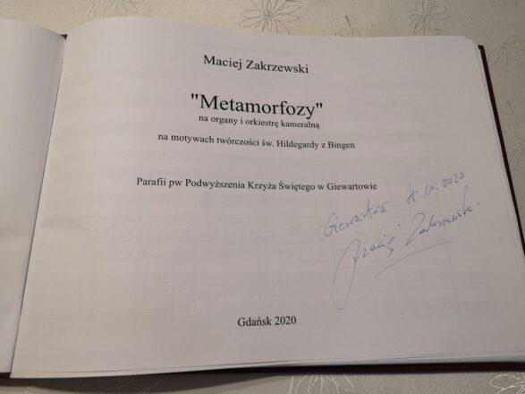 """Prawykonanie utworu """"Metamorfozy"""" Macieja Zakrzewskiego"""