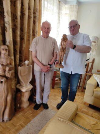Spotkanie z rzeźbiarzem Jerzym Czajcińskim